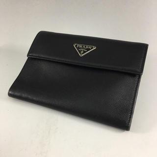 プラダ(PRADA)の正規品 PRADA プラダ サフィアーノレザー 折り財布 A4-9(財布)