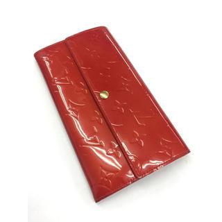 ルイヴィトン(LOUIS VUITTON)の❤️送料込み☆正規品人気ルイヴィトンモノグラムヴェルニ長財布赤(財布)