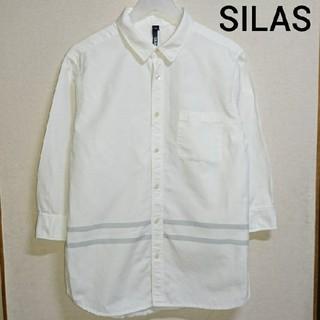 サイラス(SILAS)のSILAS 七分袖 リネンシャツ 白シャツ(シャツ)