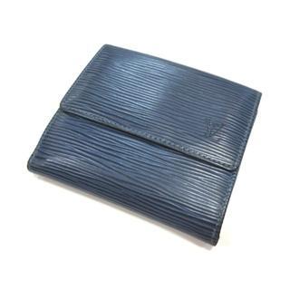 ルイヴィトン(LOUIS VUITTON)のルイヴィトン 財布 二つ折り エピ Wホック ブルー M6348G(財布)