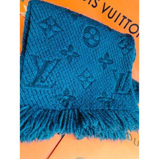 ルイヴィトン(LOUIS VUITTON)のルイヴィトン エシャルプ ロゴマニア マフラー M75504 マフラー ブルー(マフラー/ショール)