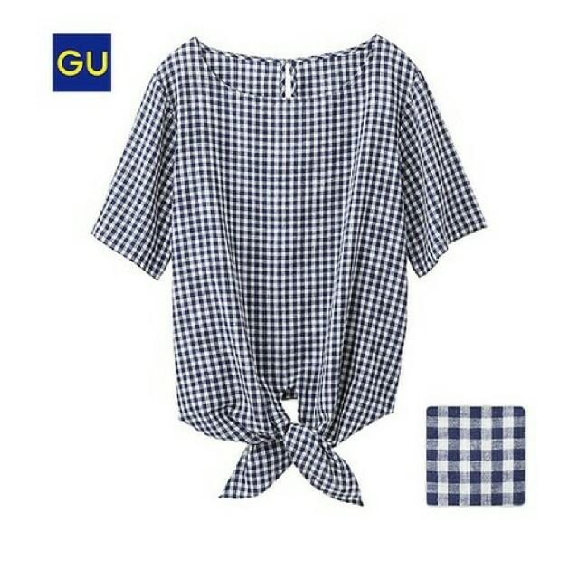 GU(ジーユー)のぽちゃっこ様 レディースのトップス(シャツ/ブラウス(半袖/袖なし))の商品写真