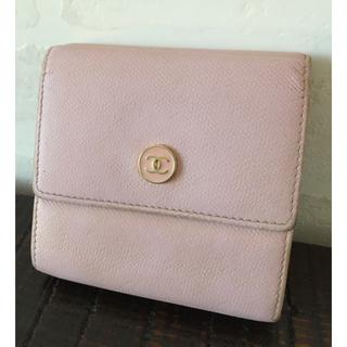 シャネル(CHANEL)のCHANEL/シャネル ココボタン Wホック折財布 ピンク A20902(財布)