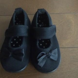 ディズニー(Disney)の♡女の子イベント向け黒リボン靴&ディズニーサンダル(フォーマルシューズ)
