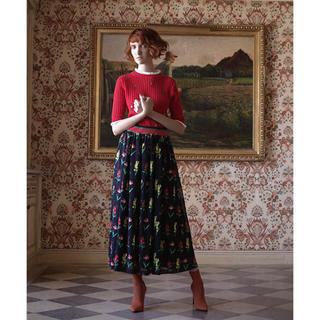 ミュベールワーク(MUVEIL WORK)の新品 muveil 今季 2018ss ヴィンテージフラワー スカート(ロングスカート)