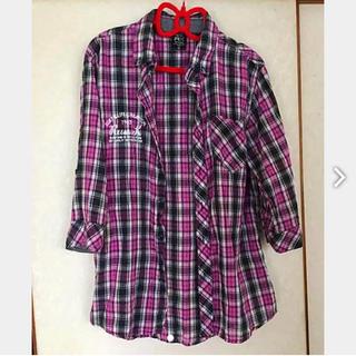 ラスケー(RUSS・K)のチェックシャツ RUSS・K 古着 シャツ 七分袖 シャツ 七分袖 カットソー(シャツ/ブラウス(長袖/七分))