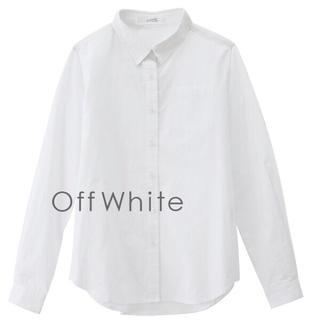 ズーティー(Zootie)の美品 イーザッカマニアストアーズ コットンシャツ M 白 ホワイト(シャツ/ブラウス(長袖/七分))