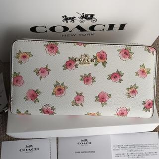 コーチ(COACH)のコーチ 長財布 COACH ラウンドファスナー 桃花 フローラル(財布)