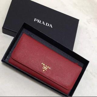 プラダ(PRADA)のプラダ 長財布 美品 大人気のレッド(財布)