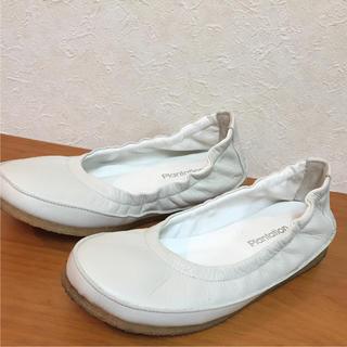 プランテーション(Plantation)のPlantation プランテーション 白いお洒落な靴 シューズ(スリッポン/モカシン)