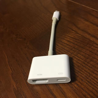 アップル(Apple)のApple Lightning-Digital AVアダプタ 中古(映像用ケーブル)