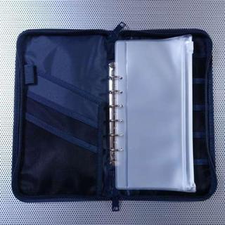 無印 パスポートケース 家計簿 ネイビー 紺色
