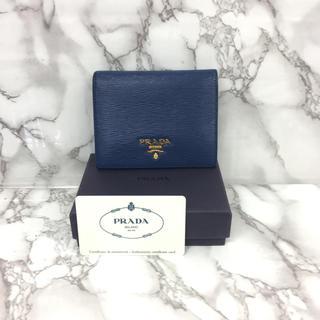 プラダ(PRADA)の プラダ レザー 2つ折り コンパクト財布 (財布)