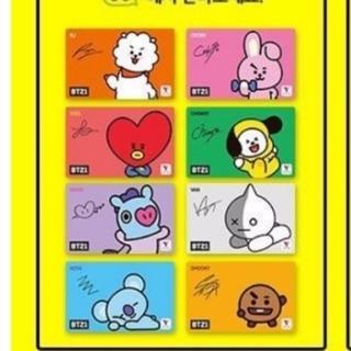 ボウダンショウネンダン(防弾少年団(BTS))のBTS♡限定 BT21 韓国 交通カード Tマネー tmoney ポップカード(アイドルグッズ)