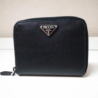 プラダ(PRADA)の正規品♡美品♡プラダ 折りたたみ財布 黒 サフィアーノレザー バッグ 財布(財布)