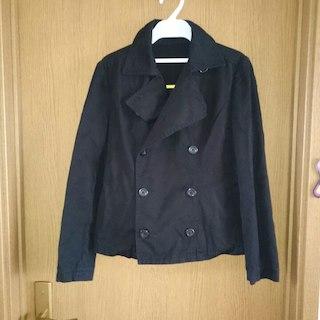 黒ジャケット(ピーコート)