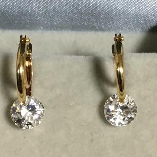 ジュエリーツツミ(JEWELRY TSUTSUMI)のk18 フェイクダイヤ付きピアス(ピアス)