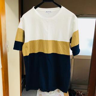 グローバルワーク(GLOBAL WORK)の美品 3色網地Tシャツ L グローバルワーク(Tシャツ/カットソー(半袖/袖なし))