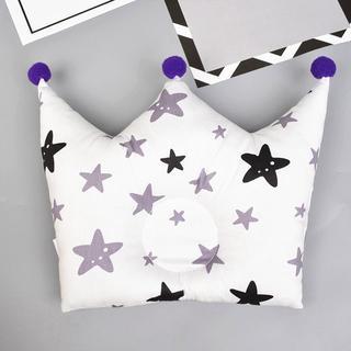 【新品】北欧柄♥クラウン形ベビー枕⑤王冠/スター星柄(枕)