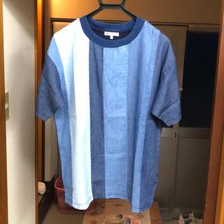 グローバルワーク(GLOBAL WORK)の美品 デニムシャツ Lサイズ(Tシャツ/カットソー(半袖/袖なし))