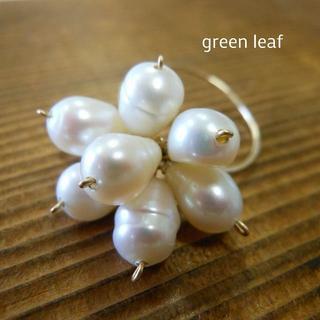 14kgf*Freshwater Pearl Flower Ring(リング)