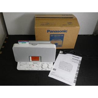 パナソニック(Panasonic)の● パナソニックラジオレコーダー 4GB グレイスホワイト RF-DR100-W(ラジオ)