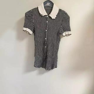 エディットフォールル(EDIT.FOR LULU)のギンガムチェック 襟が可愛い(シャツ/ブラウス(半袖/袖なし))