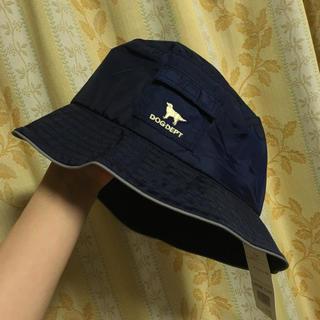 ドッグデプト(DOG DEPT)のネイビー♡軽くて便利な♡お帽子♡未使用品(ハット)