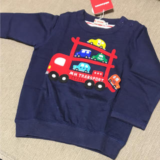 mikihouse - ミキハウス デザイン ロングTシャツ 薄手トレーナー 80センチ