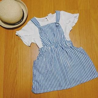 エイチアンドエム(H&M)の新品タグ付き♡完売品♡H&Mワンピース♡Tシャツ♡2点セット♡ベビー80♡女の子(ワンピース)