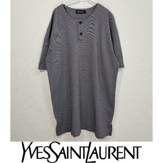 イヴサンローランボーテ(Yves Saint Laurent Beaute)のYves Saint Laurent 刺繍ロゴ ボーダーTシャツ (Tシャツ/カットソー(半袖/袖なし))