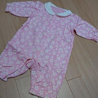 コンビミニ(Combi mini)の★コンビミニ ピンク花柄 ロンパース★80(ロンパース)
