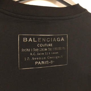 バレンシアガ(Balenciaga)のバレンシアガ ロゴTシャツ メンズL 新品タグ付き(Tシャツ/カットソー(半袖/袖なし))