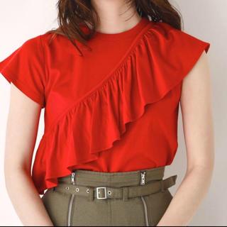 スライ(SLY)のSLY アシンメトリー フリル付き Tシャツ(Tシャツ(半袖/袖なし))