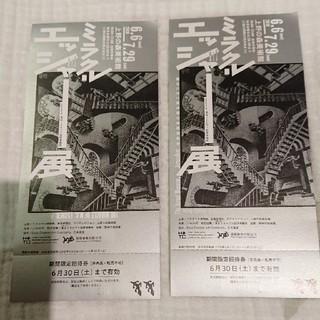 ミラクルエッシャー展 招待券(2枚)(美術館/博物館)