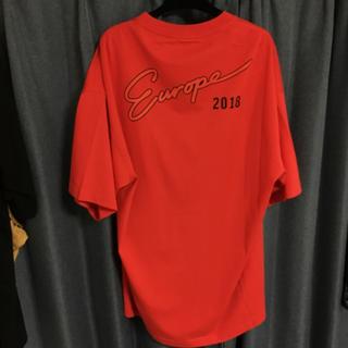 バレンシアガ(Balenciaga)のBALENCIAGA Europe 2018 赤 RED(Tシャツ/カットソー(半袖/袖なし))