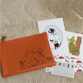 リトルミー(Little Me)の【ムーミン】ポーチ ポストカード 付箋セット♡(ポーチ)
