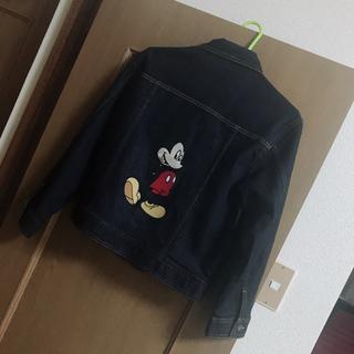 ディズニー(Disney)のGU ミッキー  デニムジャケット Gジャン ディズニー(Gジャン/デニムジャケット)