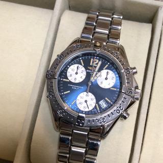 ブライトリング(BREITLING)の極美品 ブライトリング コルト 青文字盤 メンズ(腕時計(アナログ))