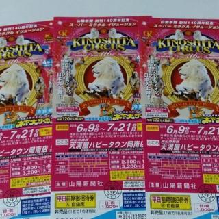 木下大サーカス 岡山公演 チケット(サーカス)