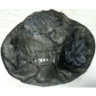 光沢グレーの帽子👒一点もの新品(その他)