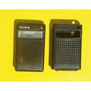 ソニー(SONY)のラジオ SONY ICR-N7 NIKEEY専用 ケース付(ラジオ)