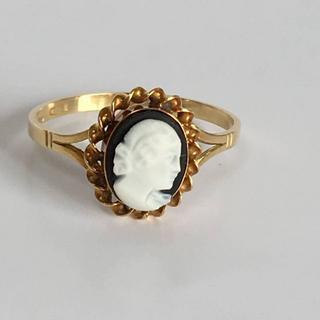 K18YG(イエローゴールド)カメオ デザインリング 17.5号 指輪 (リング(指輪))