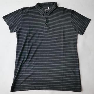 グラム(glamb)のglamb グラム ポロシャツ ボーダー ブラック 日本製 黒 クリーニング済(シャツ)
