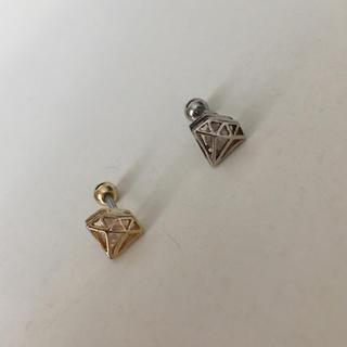 【ボディピアス ・2個セット】ダイヤ型/ゴールド・シルバー(ピアス)