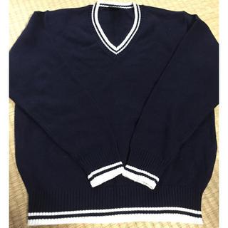 【美品】子供用セーター ネイビー 140(ニット)