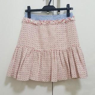 ナラカミーチェ(NARACAMICIE)の美品☆ナラカミーチェ 刺繍 スカート S(ひざ丈スカート)