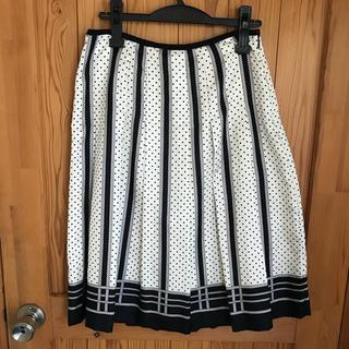 アマカ(AMACA)のアマカ マリンスカート スカーフみたいなスカート(ひざ丈スカート)
