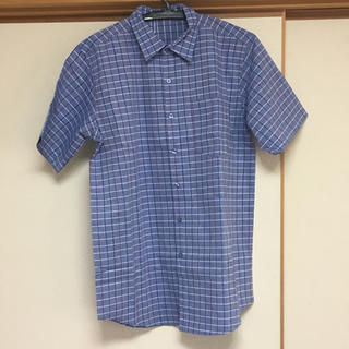 リサーチ(....... RESEARCH)の新品 アーバンリサーチ 半袖チェックシャツ 青 38(Mサイズ)(シャツ)