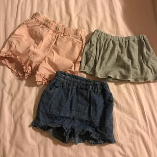 MUJI (無印良品) - 女の子 ショートパンツ 3枚